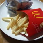 マクドナルド - 半分食べられたポテト
