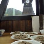 16130710 - 辰鼓楼(しんころう)の時計が見える席での食事