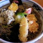 蕎麦屋 慶徳 - 野菜天おろしそば(1100円)