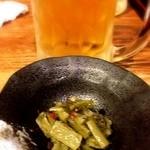 嘉門 - 山くらげの付き出しとビール