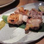 銀座和乃匠 - 日向地鶏の炭火焼き(\1,155-)