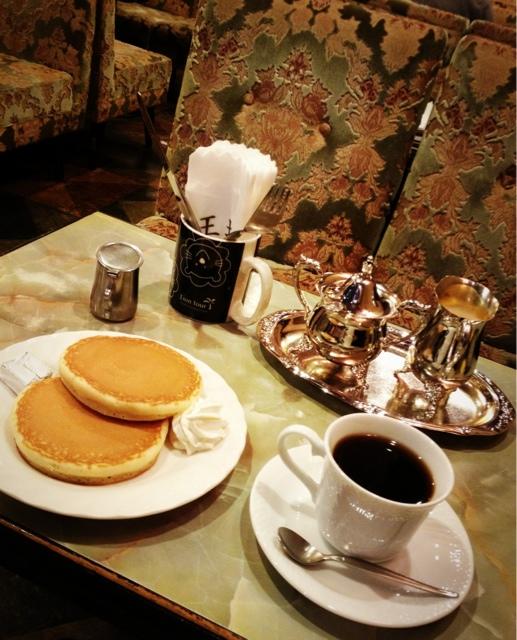 王城 - ホットケーキとコーヒー