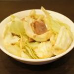 六角家 - 六角家定食(小・¥800)のキャベチャー
