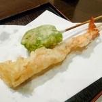 味ごころ たていし - 天ぷら(海老・麸)