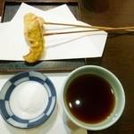 味ごころ たていし - 天ぷらは塩かつゆをお好みで