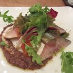 レランデヴード トキオ - 桜チップで燻製したサバのサラダ