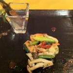 中国料理 翆陽 - サーモンと野菜の大葉炒め