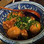 鳥蔵 黒船 - 宴会メニュー 手羽元と玉子の甘辛煮