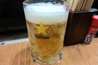 いっしん - 生中サッポロ黒ラベル(通常¥300)キンキン凍っています(^^)v