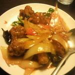 紅高粱 - 料理写真:若鶏の辛味噌炒め