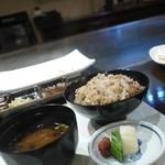 真樹 - 赤米のガーリックライス 美味でした