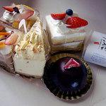 エチュード洋菓子店 - 料理写真:ショートケーキ5コセット1000円(期間限定イベント)