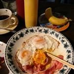 喫茶Y - 小モーニング、デザートのバナナ