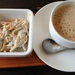 上島珈琲店  - ゴボウサラダとミルクコーヒー