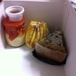スイートファクトリー ケイ - メイプルプリン・ハッピーポーチ・ナッツとチェリーのケーキ
