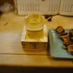 鳥長 - 吉の杉樽酒、2杯目