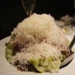 トリッペリア トリッパ - 生ハムと山盛りパルミジャーノチーズのサラダ