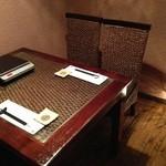 ぼんぐう・kurobuTa - 2名様~5名様迄のテーブル席完全個室です。