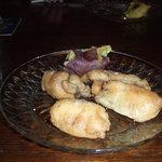 りゃん亭 - お通し 牡蠣のベニエ