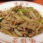 16170021 - 豚肉と玉ねぎ炒め。(ハーフ)