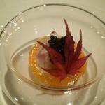 16172036 - くえ、牡蠣とマスカルポーネソースキャビアのせ
