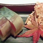 16172877 - 凌ぎ 鯖棒寿司とたたみいわし