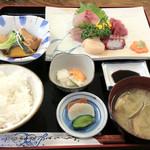 ひで丸 - 刺身定食:1000円