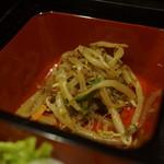 北海道海鮮居酒屋 いろりあん - もやしの炒め物