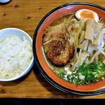 麺屋 一本気 - みそらー麺・めんま & 半ライス(2012年11月)