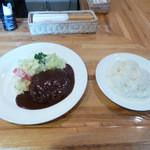 Grillにんじん - ハンバーグステーキ