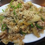 16178216 - バラ肉の生姜炒め定食(アップ)