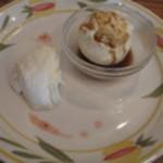 Monte bianco - パンナコッタ・アイスクリームのエスプレッソがけ