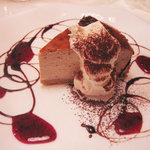 cafe 一期一会 - 苺のベイクドチーズケーキ