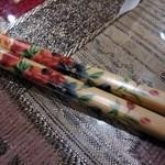 シルクロード・タリムウイグルレストラン - お箸もウイグル製