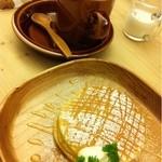森の間CAFE - パンケーキセット:2012年11月
