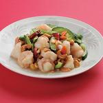 金春 - 海老とカシューナッツの塩味炒め 1200円