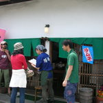 鐘庵 三保総本店 - この幟が出ているときは生桜エビが有るんですよ