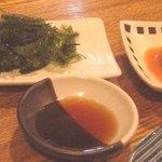 海遊月 - 海ぶどうと豆腐よう、どれでも1皿400円