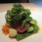 メゾン・ド・スリジェ - 仔羊 モモ肉のグリル 季節の野菜とシンプルなジュ