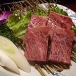 旅染屋 山いち - 料理写真:短角牛はその場で網焼き