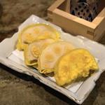 和食 七福神 - 2012.11 揚げたて辛子蓮根(食べログクーポン利用のサービス品)