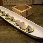 和食 七福神 - 2012.11 天草鯛の塩こんぶ巻き(800円)