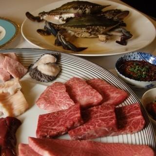 当店自慢のお肉とケジャンでご宴会をどうぞ。