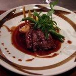 1620702 - 一鐡コース(鉄板焼:オーストラリア産 牛フィレ肉のソテー)
