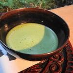 休耕庵 竹の庭の茶席 - ドリンク写真:お抹茶はクリーミーに点てられていました
