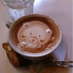 HAMA CAFE - カプチーノ (豆乳にしてもらいました)