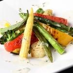 ラグシス - 季節野菜のグリルサラダ クリームチーズソース