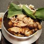 三福源 - 火鍋の麻辛鍋(980円)にはおろしポン酢が付いてきました