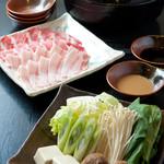 口福家 HANARE - あぐー豚のしゃぶしゃぶコース 3500円
