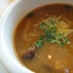菜園の風 - ランチセットのスープ
